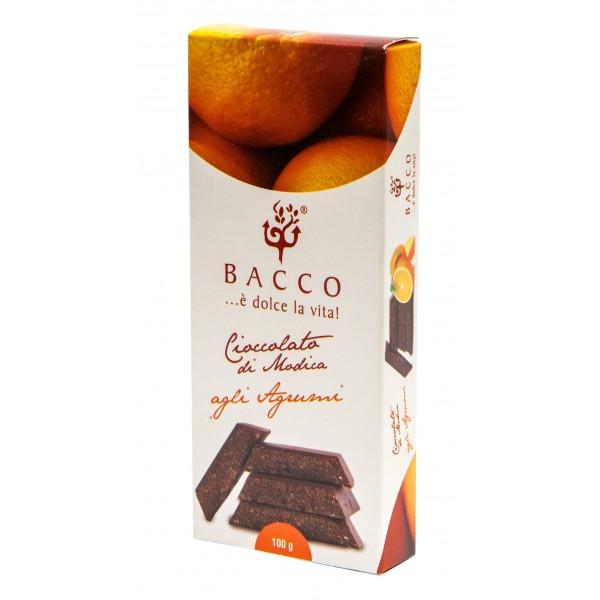Bacco - Tipicità al Pistacchio - Cioccolato di Modica agli Agrumi - Cioccolato Artigianale - 100 g
