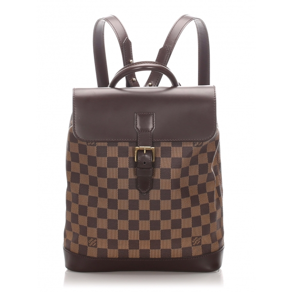 Louis Vuitton Vintage - Damier Ebene Soho Backpack - Brown - Leather Backpack - Luxury High Quality