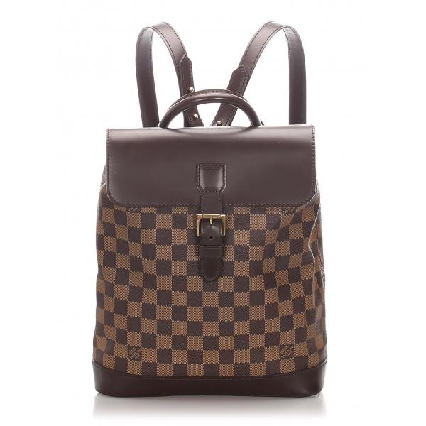 Louis Vuitton Vintage - Damier Ebene Soho Backpack - Marrone - Zaino in Pelle - Alta Qualità Luxury