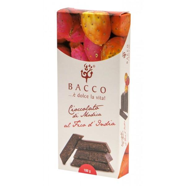 Bacco - Tipicità al Pistacchio - Cioccolato di Modica al Fico d'India - Cioccolato Artigianale - 100 g