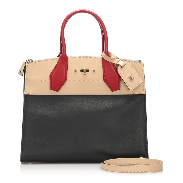 Louis Vuitton Vintage - City Steamer MM Bag - Black Multi - Canvas Leather Calf Handbag - Luxury High Quality