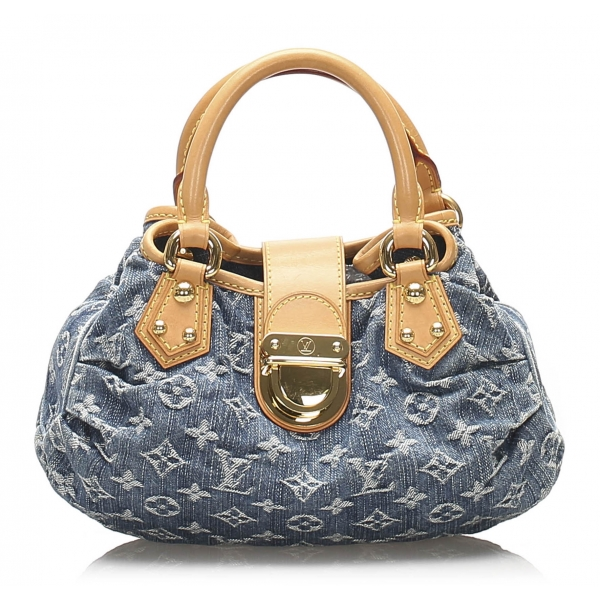 Louis Vuitton Vintage - Monogram Denim Pleaty Handbag - Denim - Leather Handbag - Luxury High Quality
