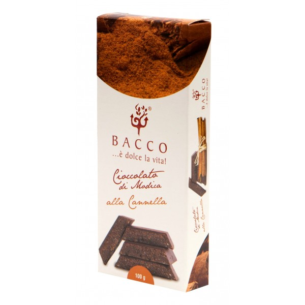 Bacco - Tipicità al Pistacchio - Cioccolato di Modica alla Cannella - Cioccolato Artigianale - 100 g
