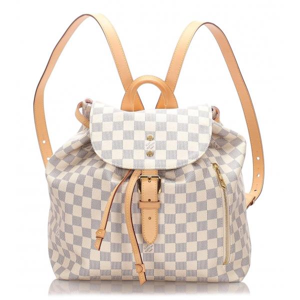 Louis Vuitton Vintage - Damier Azur Sperone Backpack - Bianco - Zaino in Pelle - Alta Qualità Luxury