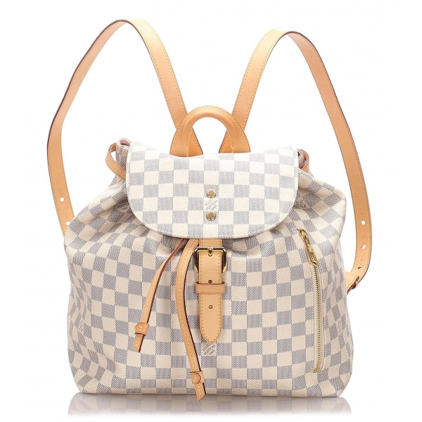 Louis Vuitton Vintage - Damier Azur Sperone Backpack - White - Leather Backpack - Luxury High Quality