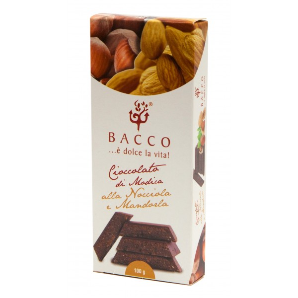 Bacco - Tipicità al Pistacchio - Chocolate of Modica - Hazelnut and Almond - Artisan Chocolate - 100 g