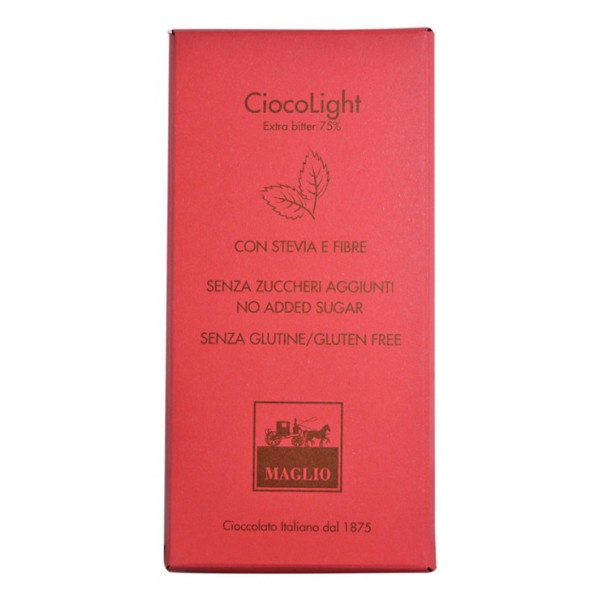 Cioccolato Maglio - Light Chocolate Bar - Extra Bitter 75 % Cocoa