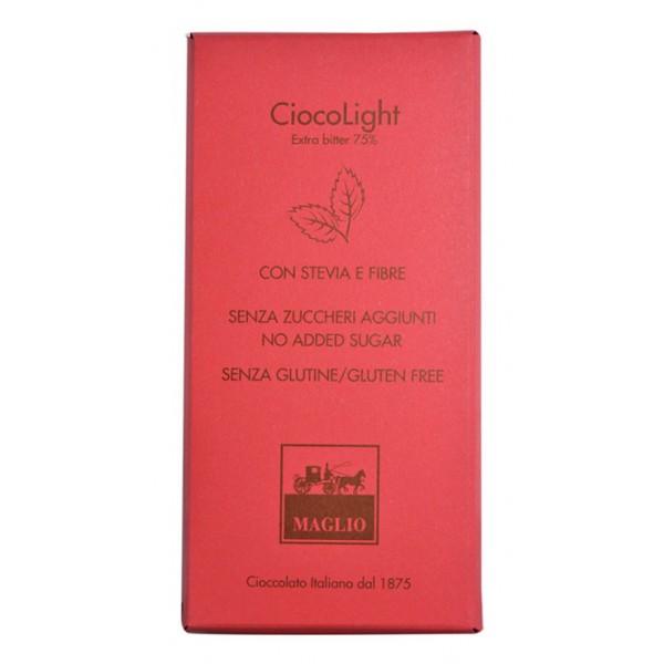 Cioccolato Maglio - Light Chocolate Bar - Extra Bitter 75 % Cocoa