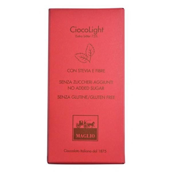 Cioccolato Maglio - Tavoletta Cioccolato Light - Extra Bitter 75 %