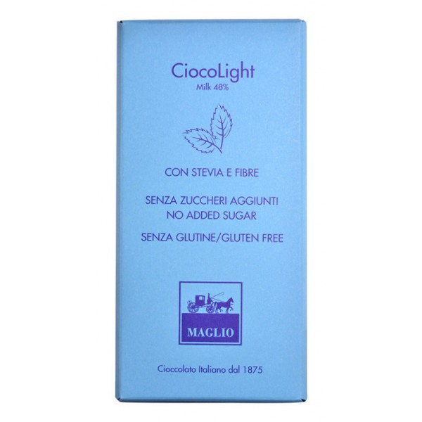 Cioccolato Maglio - Light Chocolate Bar - Milk 48 %
