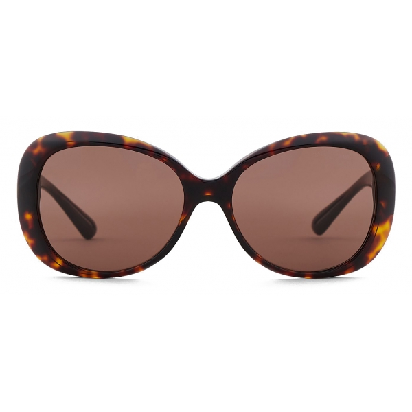 Giorgio Armani - Occhiali da Sole Donna Forma Oversize - Marrone - Occhiali da Sole - Giorgio Armani Eyewear