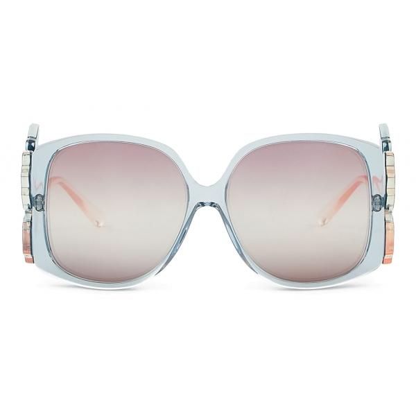 Giorgio Armani - Occhiali da Sole Donna Oversize - Azzurro - Occhiali da Sole - Giorgio Armani Eyewear