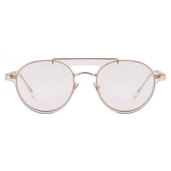 Giorgio Armani - Occhiali da Vista Modello Clip-On Forma Pilot - Oro Rosa - Occhiali da Sole - Giorgio Armani Eyewear