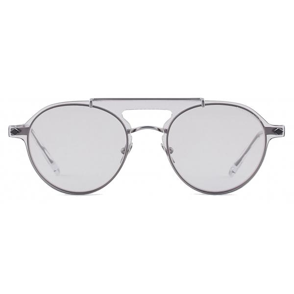 Giorgio Armani - Occhiali da Vista Modello Clip-On Forma Pilot - Grigio - Occhiali da Sole - Giorgio Armani Eyewear