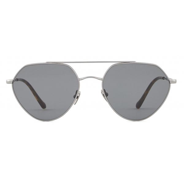 Giorgio Armani - Irregular Shape Sunglasses - Graphite - Sunglasses - Giorgio Armani Eyewear