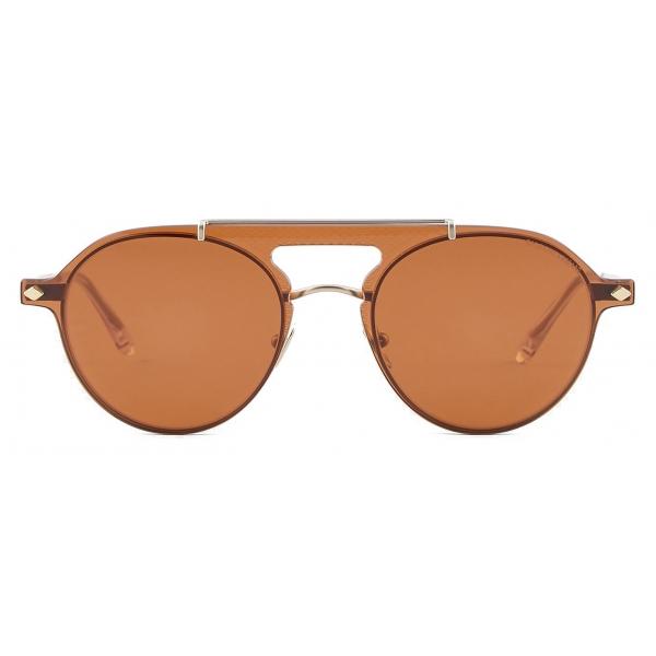 Giorgio Armani - Occhiali da Vista Modello Clip-On Forma Pilot - Oro - Occhiali da Sole - Giorgio Armani Eyewear