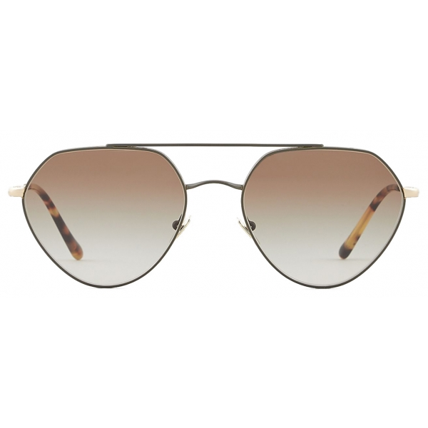 Giorgio Armani - Irregular Shape Sunglasses - Military - Sunglasses - Giorgio Armani Eyewear