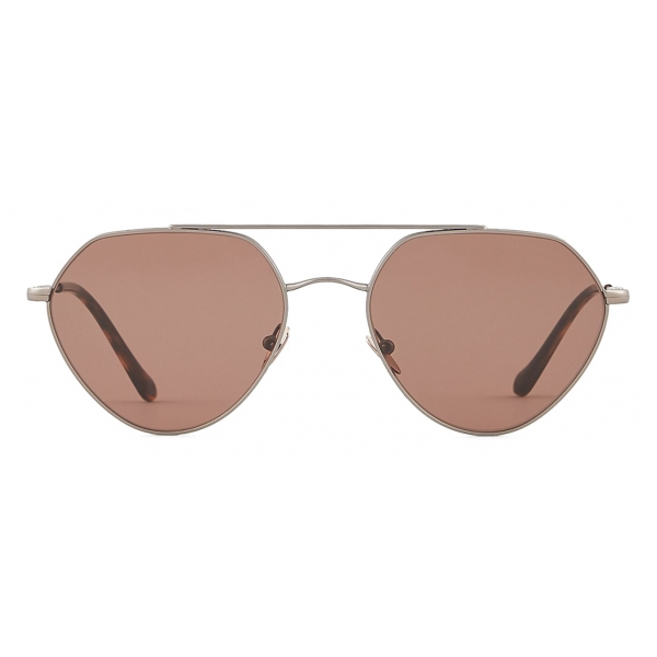 Giorgio Armani - Irregular Shape Sunglasses - Brown - Sunglasses - Giorgio Armani Eyewear