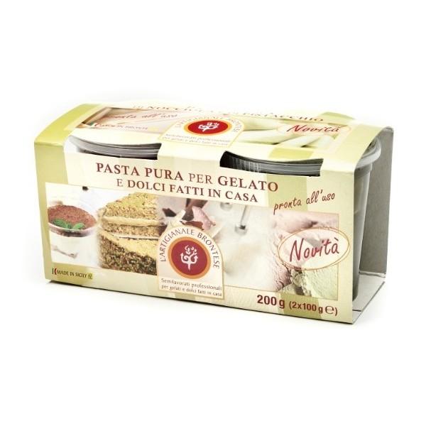 Bacco - Tipicità al Pistacchio - Semilavorato Bigusto Pistacchio e Nocciola  - Pasta Pura per Gelato e Dolci - 200 g