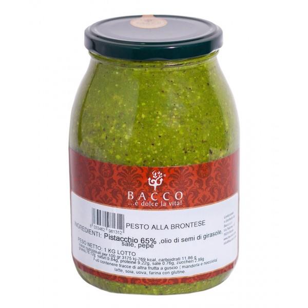 Bacco - Tipicità al Pistacchio - Pesto alla Brontese 65 % - Pistacchio di Bronte - 1 Kg