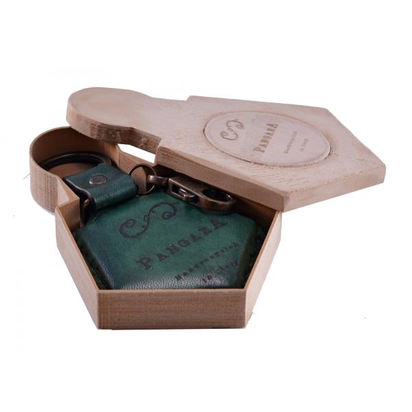 PangaeA - PangaeA Keychain - Green - Suspenders PangaeA Y - Artisan Leather Keychain