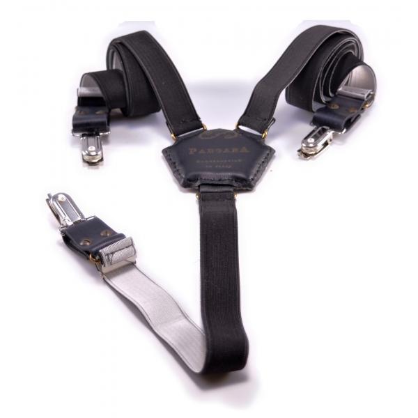 PangaeA - PangaeA Suspenders - Black - Suspenders PangaeA Y - Artisan Leather Suspenders