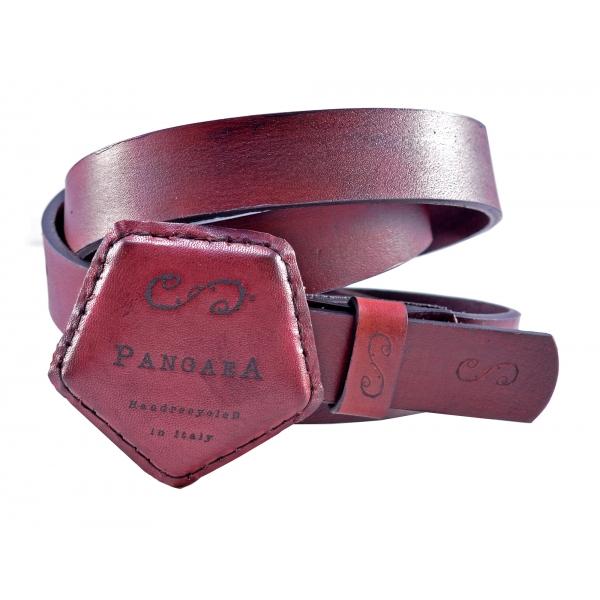 PangaeA - Cintura PangaeA - Bordeaux - Accessori PangaeA - Cintura Artigianale in Pelle