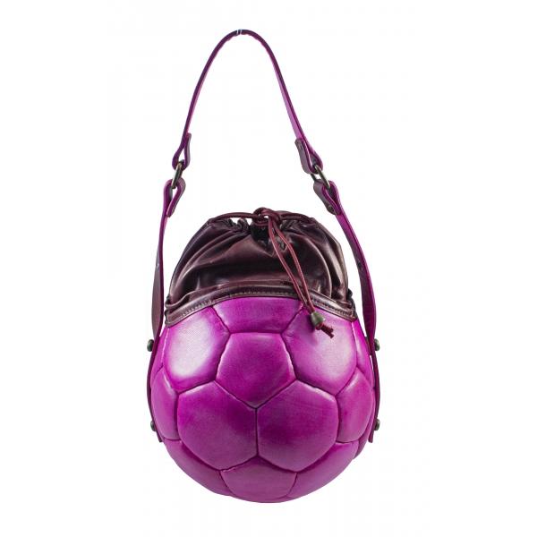 PangaeA - PangaeA Prima Pelle Bag - Pink Bordeaux - Original Model - Artisan Leather Casual Handbag