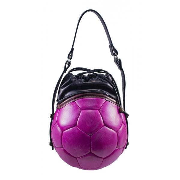 PangaeA - PangaeA Prima Pelle Bag - Pink Black - Original Model - Artisan Leather Casual Handbag