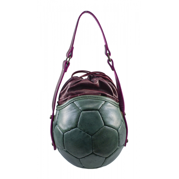 PangaeA - PangaeA Prima Pelle Bag - Green Bordeaux - Original Model - Artisan Leather Casual Handbag