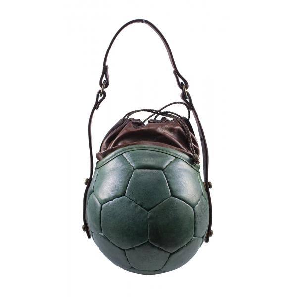 PangaeA - PangaeA Prima Pelle Bag - Verde Marrone - Modello Originale - Borsa Casual Artigianale in Pelle