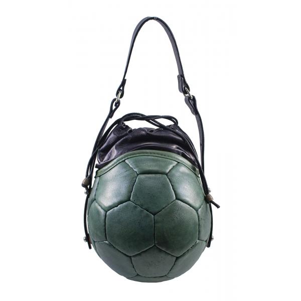 PangaeA - PangaeA Prima Pelle Bag - Verde Nera - Modello Originale - Borsa Casual Artigianale in Pelle