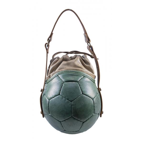 PangaeA - PangaeA Prima Pelle Bag - Verde Beige - Modello Originale - Borsa Casual Artigianale in Pelle