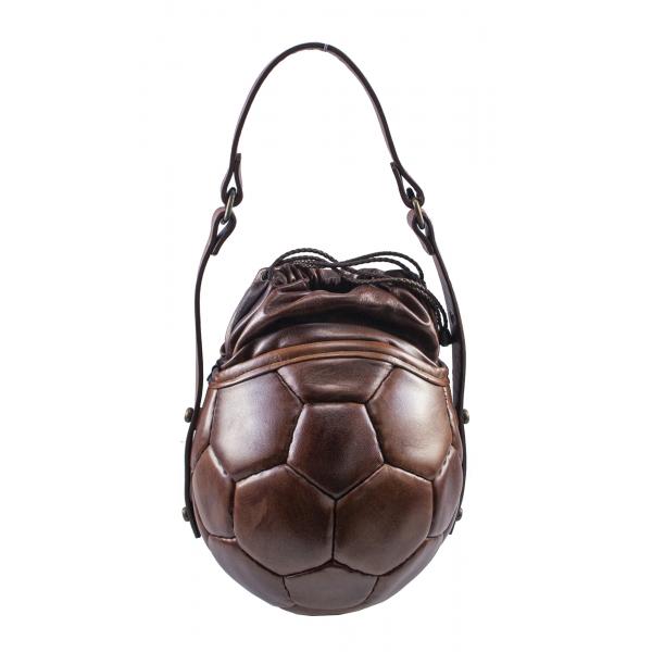 PangaeA - PangaeA Prima Pelle Bag - Brown Brown - Original Model - Artisan Leather Casual Handbag