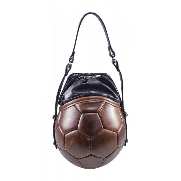 PangaeA - PangaeA Prima Pelle Bag - Brown Black - Original Model - Artisan Leather Casual Handbag