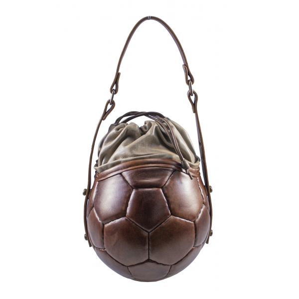 PangaeA - PangaeA Prima Pelle Bag - Brown Beige - Original Model - Artisan Leather Casual Handbag