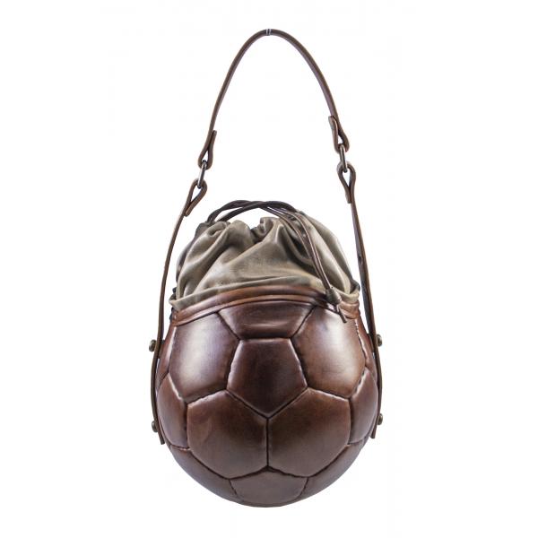 PangaeA - PangaeA Prima Pelle Bag - Marrone Beige - Modello Originale - Borsa Casual Artigianale in Pelle