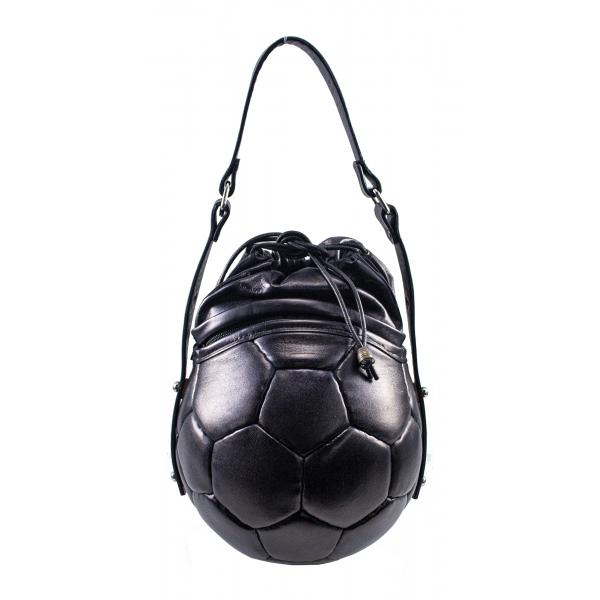 PangaeA - PangaeA Prima Pelle Bag - Back Black - Original Model - Artisan Leather Casual Handbag