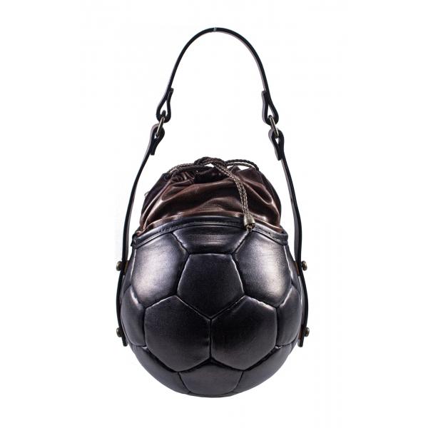 PangaeA - PangaeA Prima Pelle Bag - Back Brown - Original Model - Artisan Leather Casual Handbag