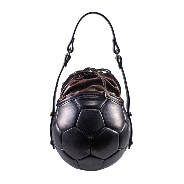 PangaeA - PangaeA Prima Pelle Bag - Nera Marrone - Modello Originale - Borsa Casual Artigianale in Pelle