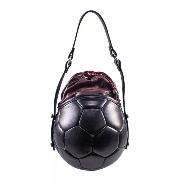 PangaeA - PangaeA Prima Pelle Bag - Back Bordeaux - Original Model - Artisan Leather Casual Handbag