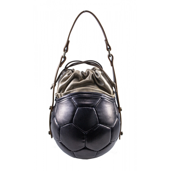PangaeA - PangaeA Prima Pelle Bag - Back Beige - Original Model - Artisan Leather Casual Handbag