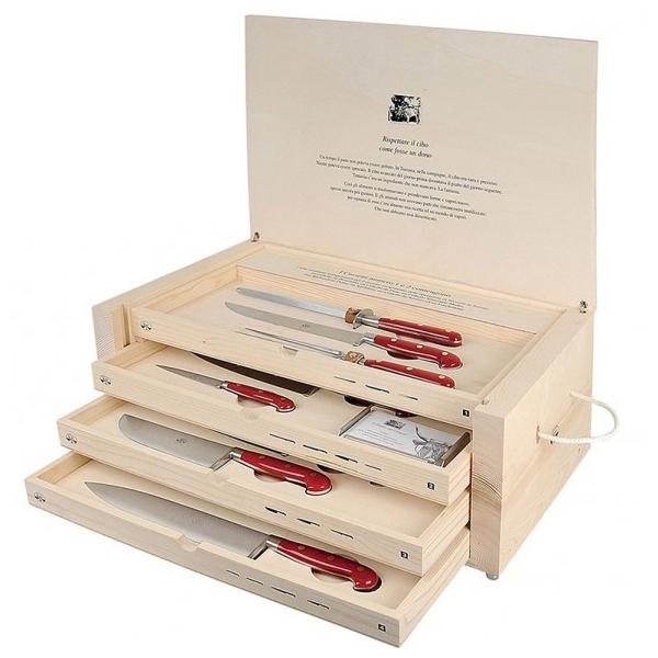 Coltellerie Berti - 1895 - Il Trinciante Completo - N. 2423 - Coltelli Esclusivi Artigianali - Handmade in Italy
