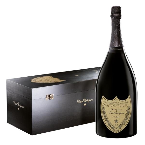 Dom Pérignon - Blanc Brut - Mathusalem - Bois Wood Box - Champagne - Pinot Noir - Chardonnay - Luxury Limited Edition - 6 l