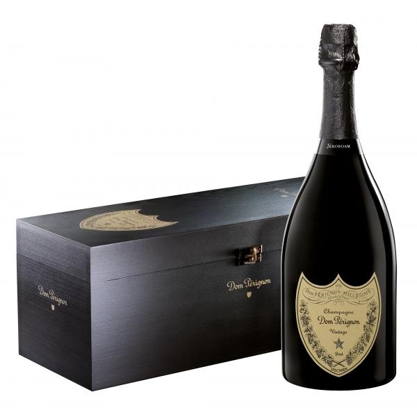 Dom Pérignon - Blanc Brut - Jéroboam - Bois Wood Box - Champagne - Pinot Noir - Chardonnay - Luxury Limited Edition - 3 l