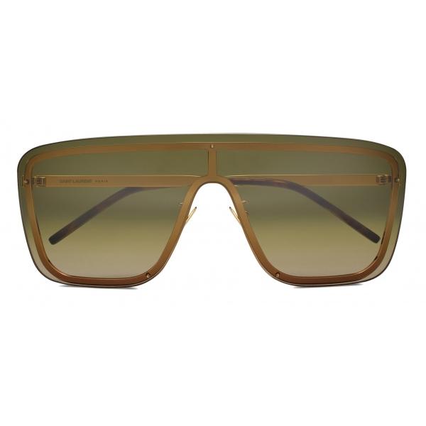 Yves Saint Laurent - SL 364 Shield Sunglasses - Pale Gold - Sunglasses - Saint Laurent Eyewear
