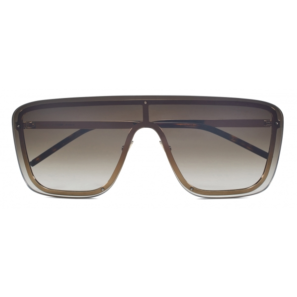 Yves Saint Laurent - SL 364 Shield Sunglasses - Brown Gold - Sunglasses - Saint Laurent Eyewear