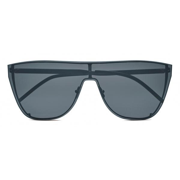 Yves Saint Laurent - Occhiali da Sole Mascherina SL 1 - Nero Argento - Saint Laurent Eyewear
