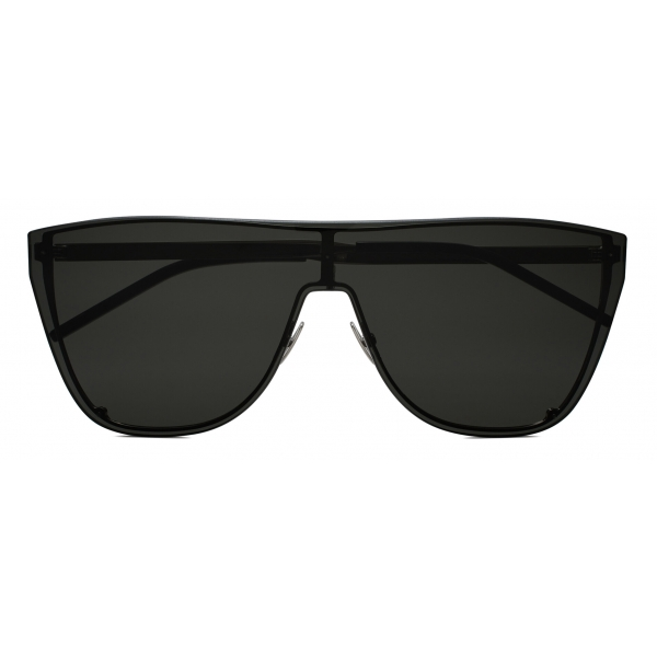 Yves Saint Laurent - SL 1 Shield Sunglasses - Black Silver - Sunglasses - Saint Laurent Eyewear