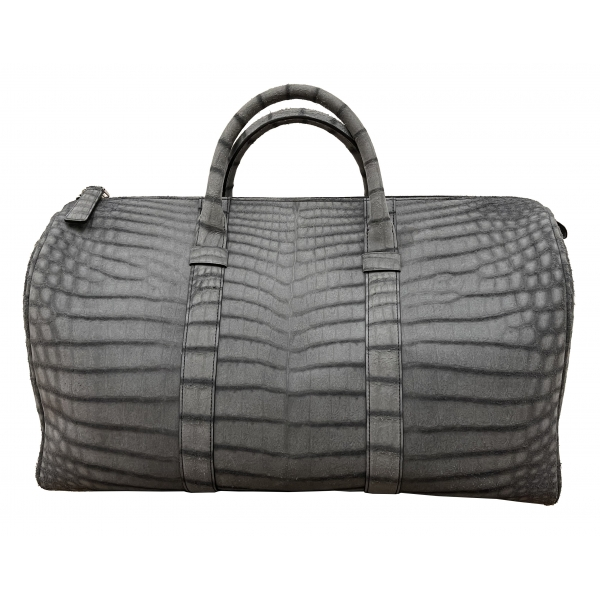 Vittorio Martire - Bag in Real Alligator Leather - Italian Handmade Bag - Luxury High Quality Leather